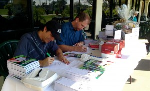 John Hakim and Zeb Welborn at the Social Golf Course Book Launch Tournament